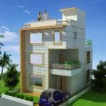 House Design Two Floor Triplex