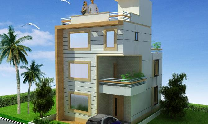 House Design Two Floor Triplex