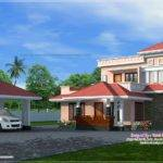House Exterior Separate Car Porch Kerala Home Design Floor