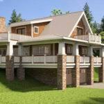 House Facade Furthermore Hillside Plans Walkout Basement