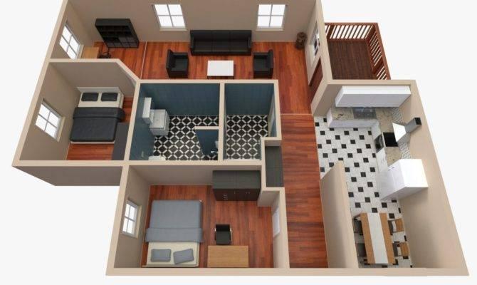 House Floor Plan Model Obj Fbx Blend Dae