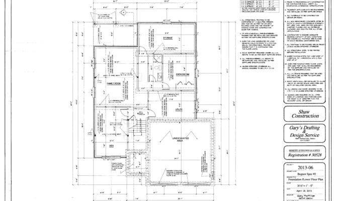 House Foundation Plan Home Building Plans Concrete Footing