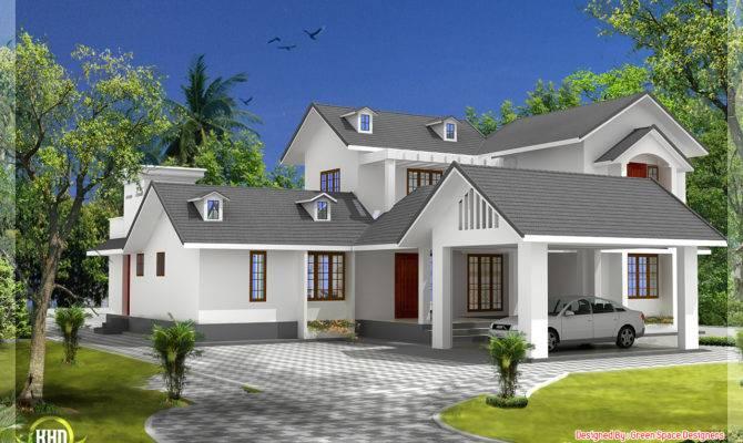 House Gable Roof Type Design Kerala Home Floor Plans