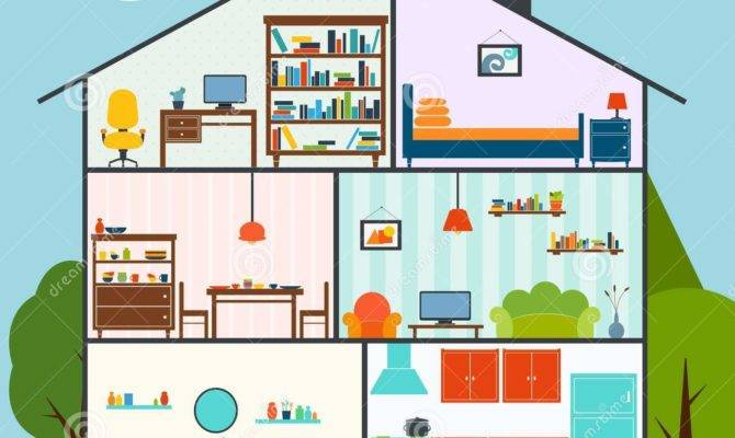 House Interior Vector Illustration