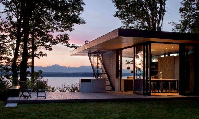 House Lake Modern Architecture Digsdigs