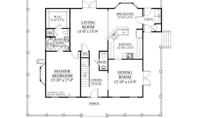 House Plan Bedrooms Baths Two Story Foyer Master Designs