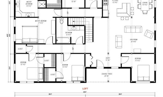 House Plan Charm Contemporary Design Pole Barn