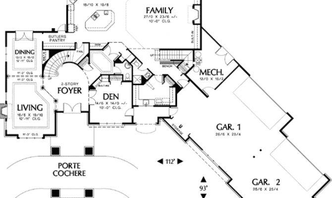 House Plan Courtyard Garage Design Plans