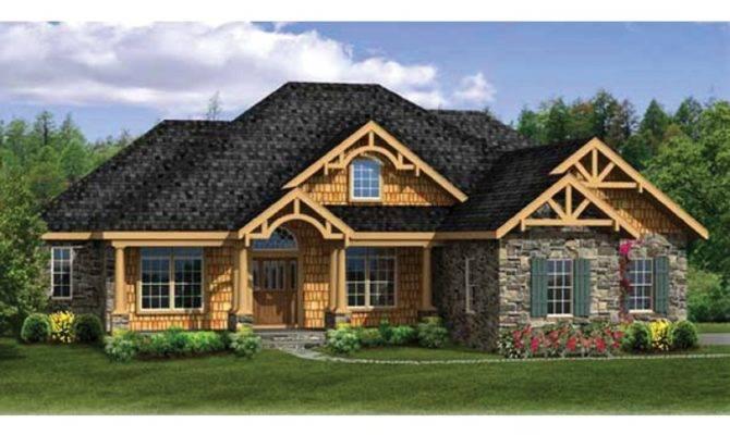 House Plan Craftsman Ranch Finished Walkout Basement