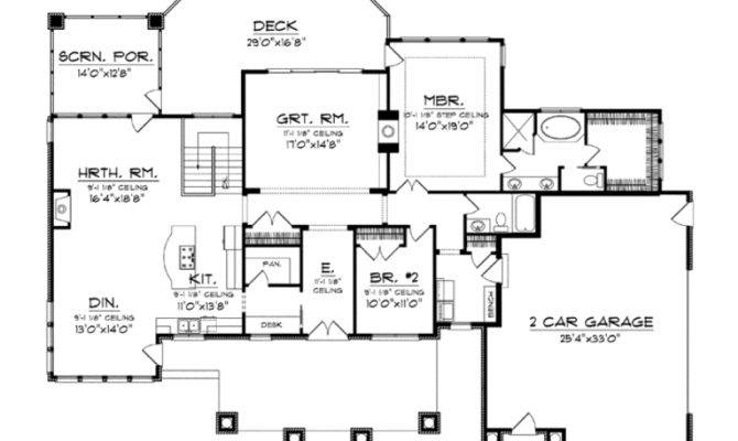 House Plan Deluxe Living One Level Square Feet