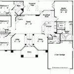 House Plan Elegant One Story Home Square Feet Bedrooms