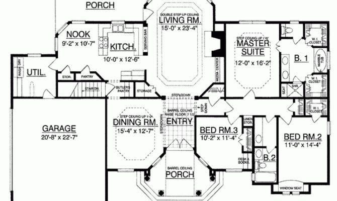 House Plan European Luxury Under Square Feet