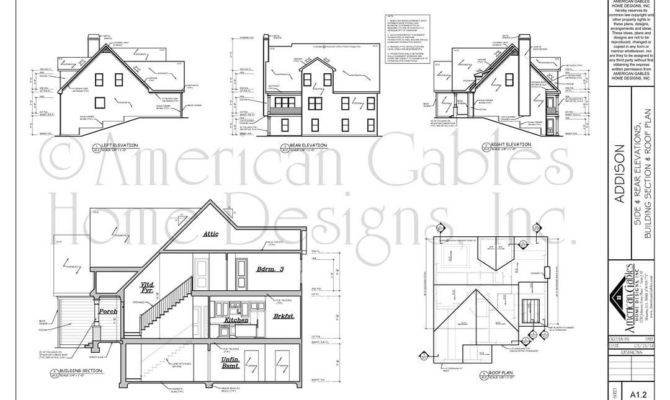 House Plan Examples American Gables Home Designs