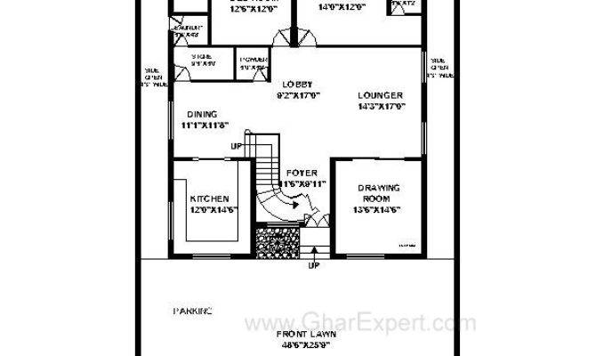 House Plan Feet Plot