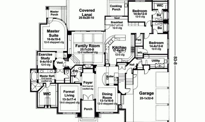 House Plan Five Bedroom Square Feet Bedrooms
