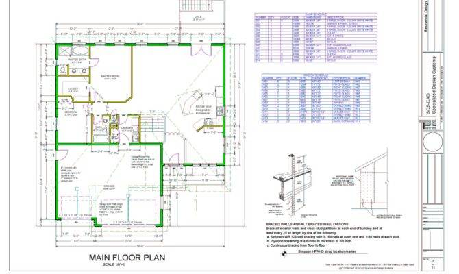 House Plan Houseplan Floor Cad Blue Print