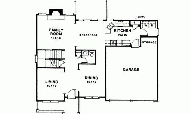 House Plan Petite Two Story Square Feet Bedrooms