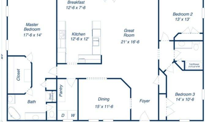 House Plan Pole Barn Floor Plans Barns