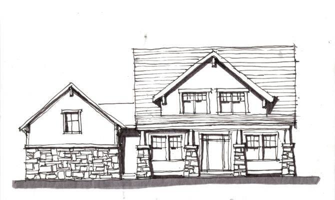 House Plan Sketch Displaying Toolbar Building Plans