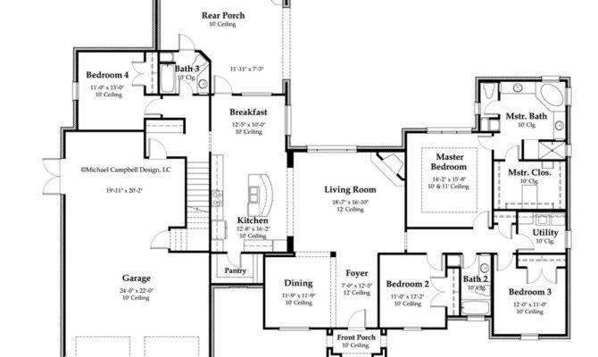 House Plan Square Footage Bedrooms French Country