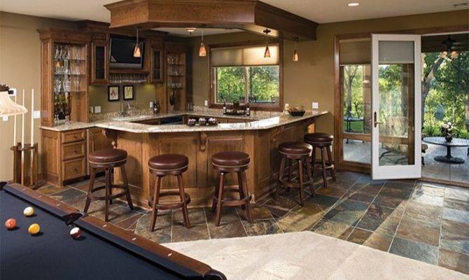 House Plan Walkout Basement Bar Plans More