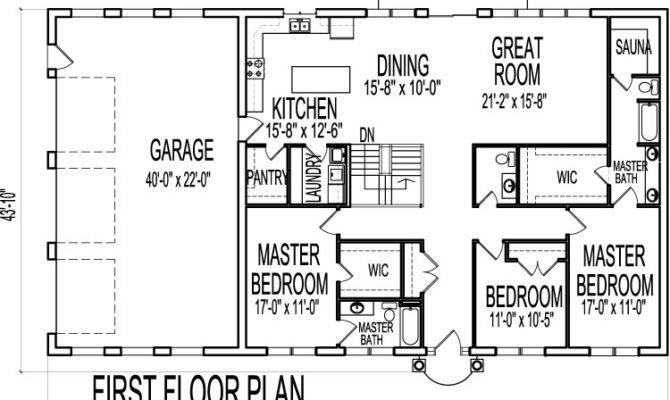 House Plans Bedroom Single Floor One Story