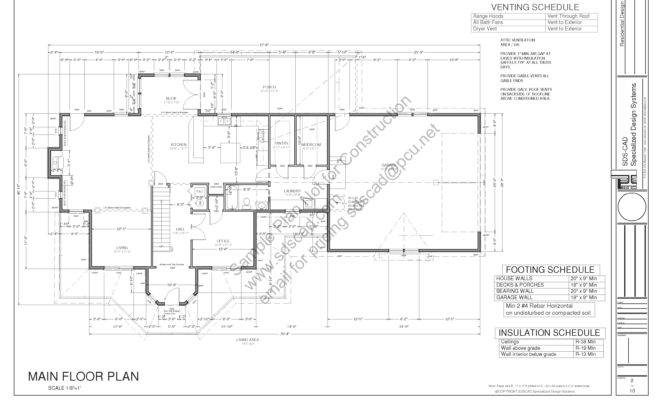 House Plans Blueprints Construction Documents Sds