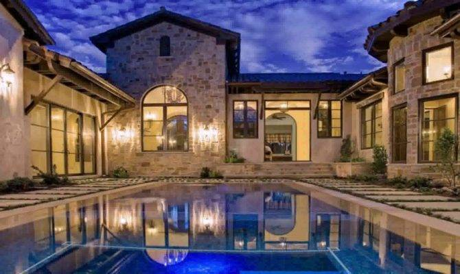 House Plans Courtyard Pools Youtube