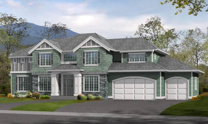 House Plans Craftsman Luxury Shingle