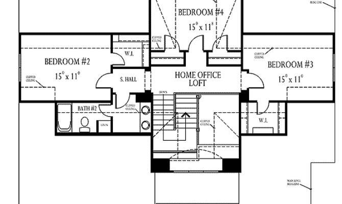 House Plans Double Sided Fireplace