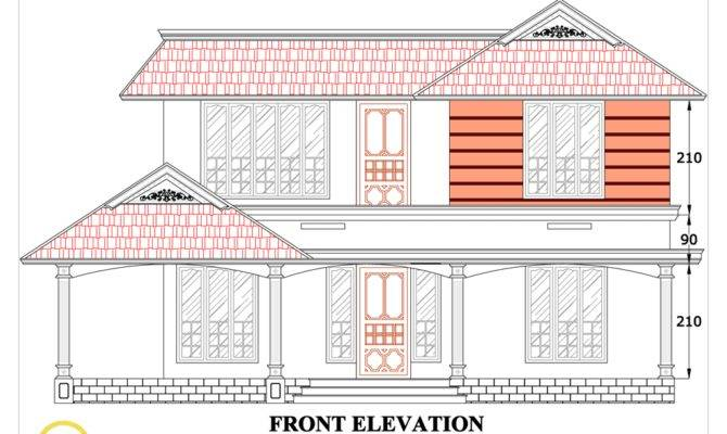 House Plans Drawings Sloping Roof Elevation March