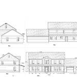 House Plans Elevation Floor Plan North Arrow Model