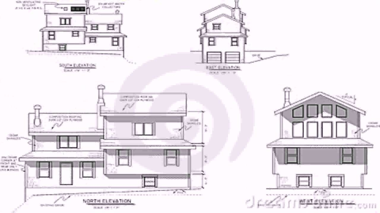 House Plans Elevation Section Youtube