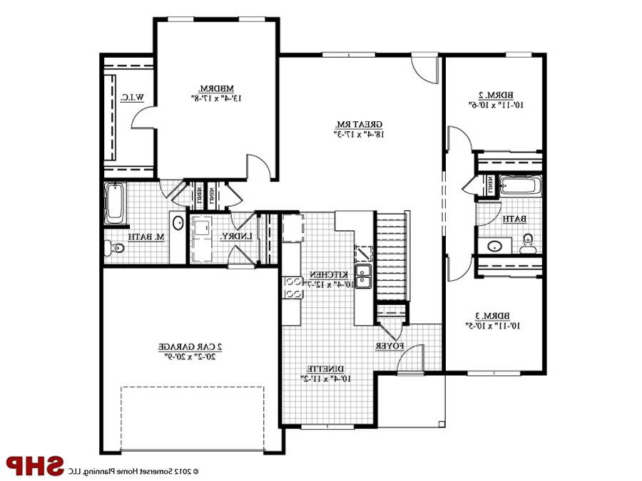 House Plans Garage Under Designs