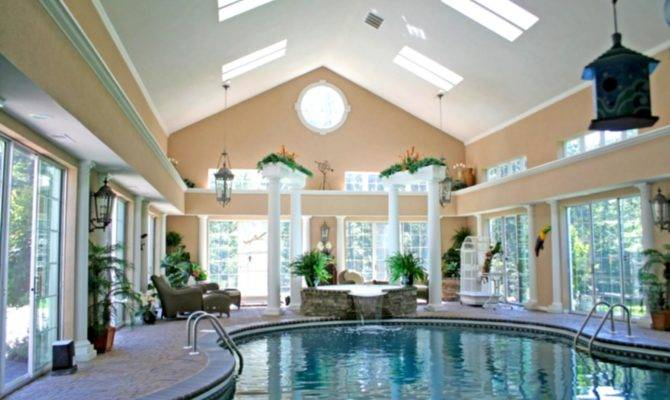 House Plans Indoor Swimming Wooden Floor Ceiling Make