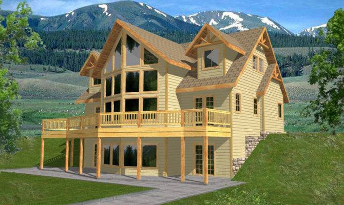 House Plans Lake Modern Mountain Home