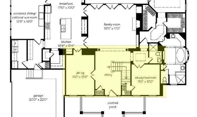 House Plans Living Room Front Home Interior
