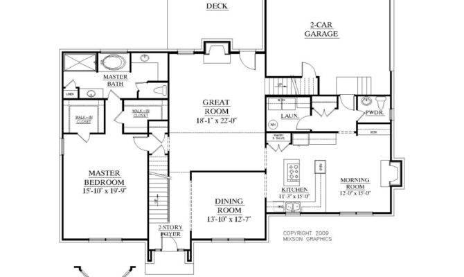 House Plans Master Floor Houses Bedroom