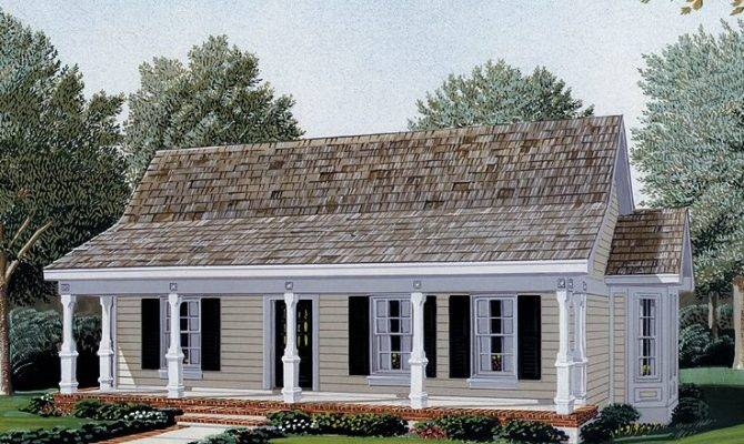 House Plans Porch Along Affordable Small Modern Plan