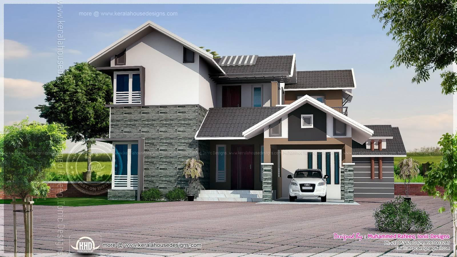 House Plans Simple Elevation Slope Roof Home Plans Blueprints 47259
