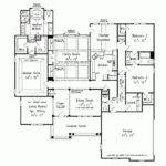 House Plans Single Story Bedroom Floor Hous