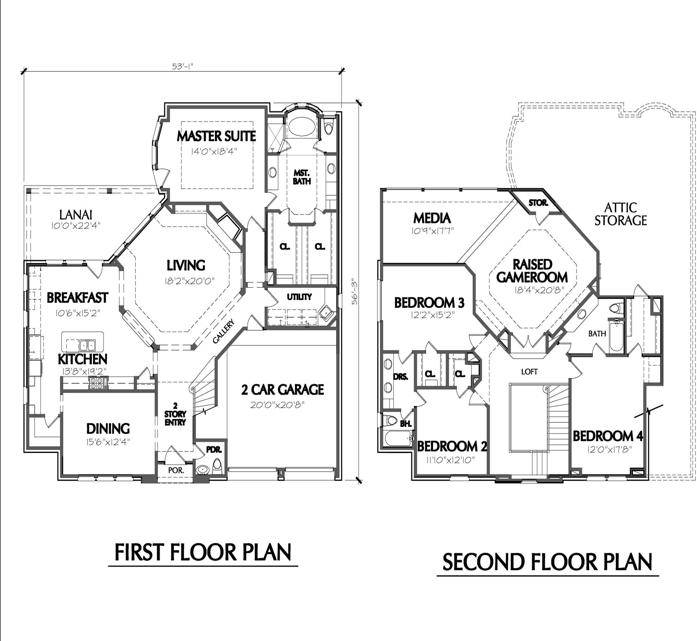 House Plans Two Story Smalltowndjs