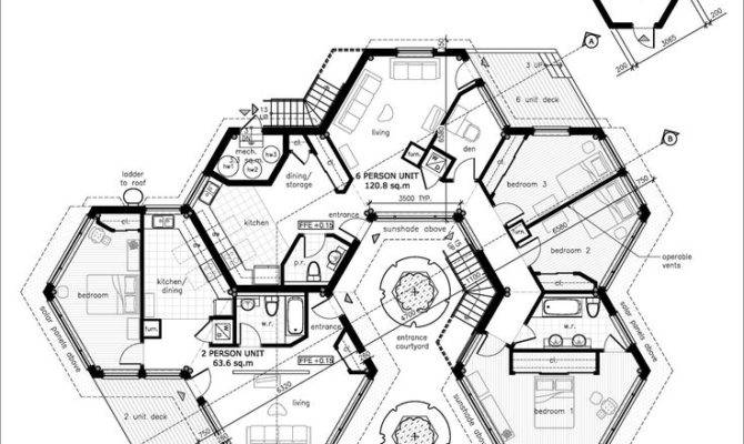 House Pods Ideas Nature Hexagons Multi Gen Plans Regen