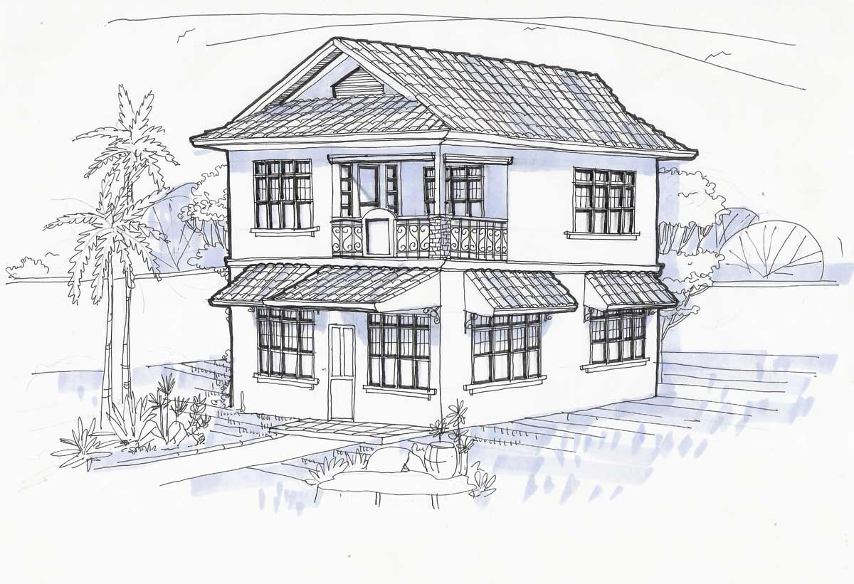 House Roof Design Drawing Here Our Original Home Plans Blueprints 67024