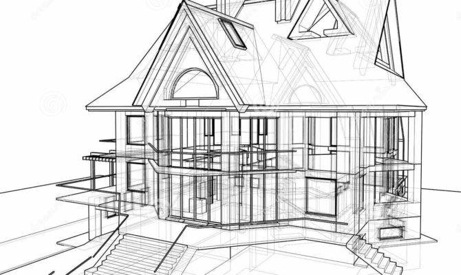 House Technical Draw Illustration