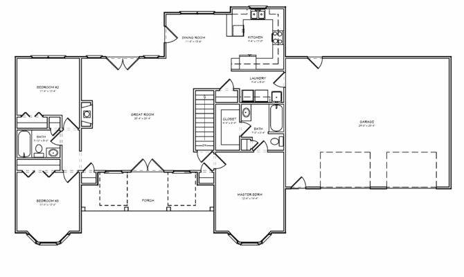 Houseplan Split Bedroom Greatroom House Plan