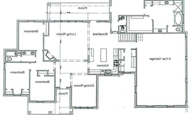 Houses Blueprint Foundation Plans House Concrete