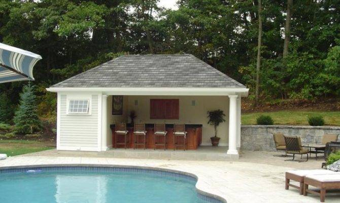 Houses Outdoor Kitchens Pool House Kitchen Plans