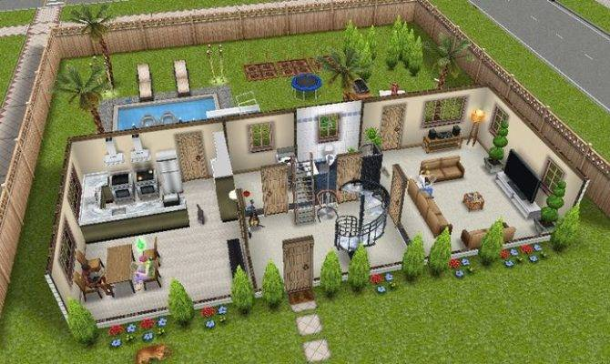 Houses Sims Freeplay House Ideas Design Plans