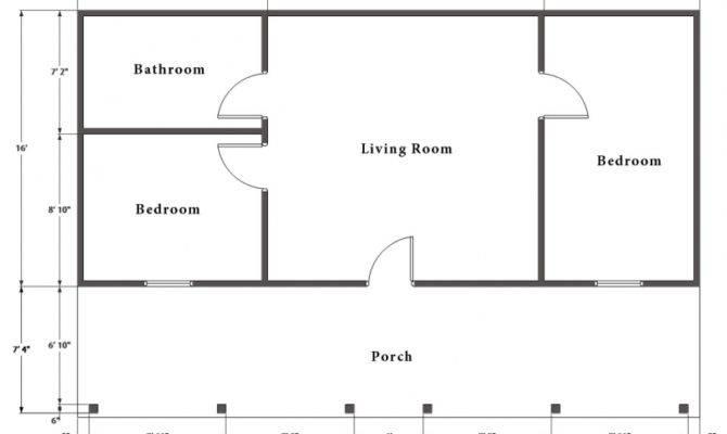 Hunting Cabin Kit Bedroom Log Plan